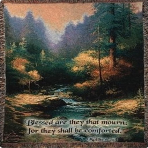 """Creekside Trail"" Tapestry Throw"