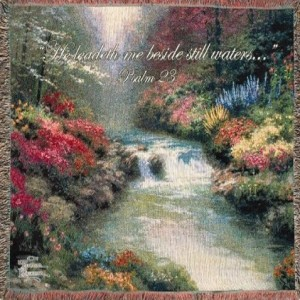 """Beside Still Waters"" Tapestry Throw"