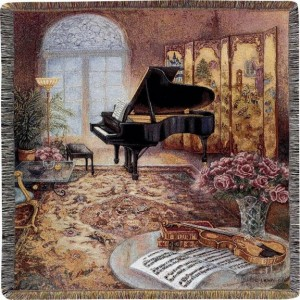"""""""The Music Room"""" Tapestry Throw"""